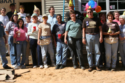 Debbie Kirkland with Armor Realty at Habitat Build