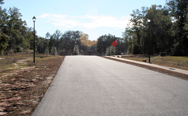 Streetlights, Sidewalks make for a clean, neat , usable subdivision