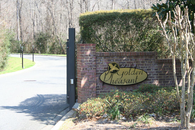 Golden Pheasant Tallahassee Florida Neighborhood Entrance Sign