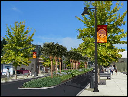 proposed Gaines Street Development rendering